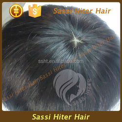 DOUBLE BLEACHED FULL FRENCH LACE GREY HAIR WIG FOR MEN