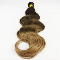 1g 12-30 inch Keratin Pre Bonded Remy Human Hair Ombre Nail Hair Extensions