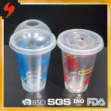 Printed 12oz Disposable milk shake Plastic Cup