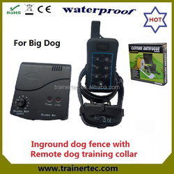 Rechargeable and waterproof europe radio dog fence & 300 meters remote dog trainig collar