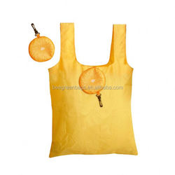 Promotional Polyester polyester fold up shopping bag with fruit shape pouch