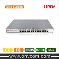 24 port gigabit switch with web management function for PoE IP camera