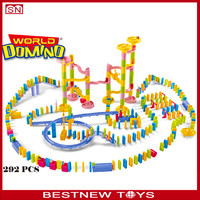 2015 New Arrival 292PC Domino for Both Children's Color Learning and Adult playing plastic Toys