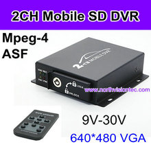 Competitive 2 channel VGA(640*480) HDD dvr and cameras for bus, car, taxi, truk, police car, auto mobile
