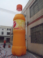 good quality printed inflatable bottle, KFC bottle for sale