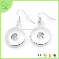 Beadsnice Snap Button Jewelry Earring Base Custom Metal Round Snap Button Earrings