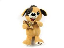 Funny musical dog plush toy with big eyes