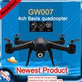 2015 Nuevos QuadCopter rc producto diseño fotografía drones profesionales con el juguete de la cámara HD volar regalo GW-T007