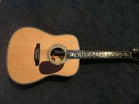 AA-07 все сплошной ручной работы высшего качества природных 45 акустическая гитара Древо жизни инкрустация грифа Эбони
