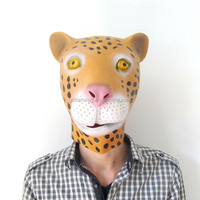 Alibaba Express Latex Animal Costume Rubber Animal Leopard Mask