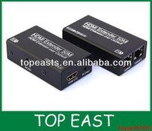 hdmi splitter amplifier extender 2 CAT5e/6 50M support 3D 1080P Ver1.4 CE FCC ROHS