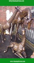 Hot sale China brand wholesale bronze giraffes gifts