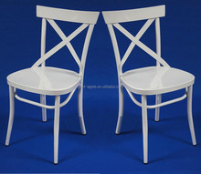 Antirust Home Used White Cross Back Chair