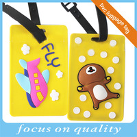 let's fly airline promotion gifts travel soft pvc luggage tag with logo
