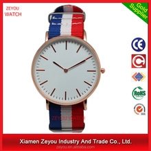 R0792 Factory directly selling!! nylon band man watch & alloy case watch man watch