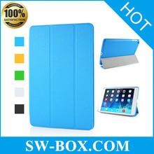 Folio Cross Grain Folding PU Leather Flip For iPad Mini Smart Case Cover With Stand And Wake / Sleep For iPad Mini 1/2/3