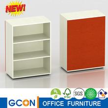 buena calidad de tela de colores de nuevo diseño librero de madera