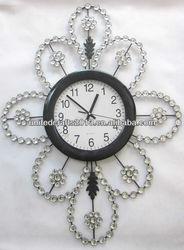 stainless steel diy design art glass wall clock