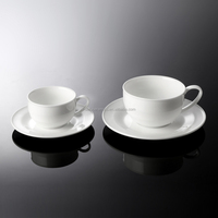 2015 New hotel Elegant white porcelain coffee cup & Saucer set, ceramic Tea cup & Saucer set for wholesale