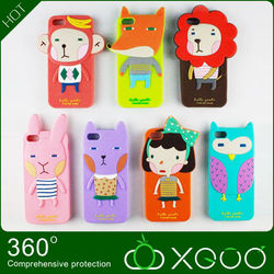 Cheap silicone mobile phone case for iphone5