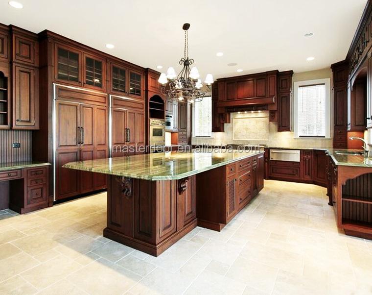 Tradicional de madera sólida gabinete de cocina-Cocinas ...