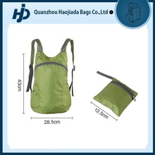 Super light weight folding up nylon bag