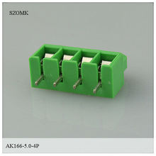 5.0mm spacing and 4 pins right angle terminal block and connector for din rail, wire and electronical device from szomk, China