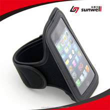 Wholesale For iphone Armband Black Neoprene Armband Mobile Phone /Cell Phone Case