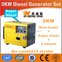 Diesel engine silent generator set genset CE ISO approved factory direct supply power small portable diesel generator