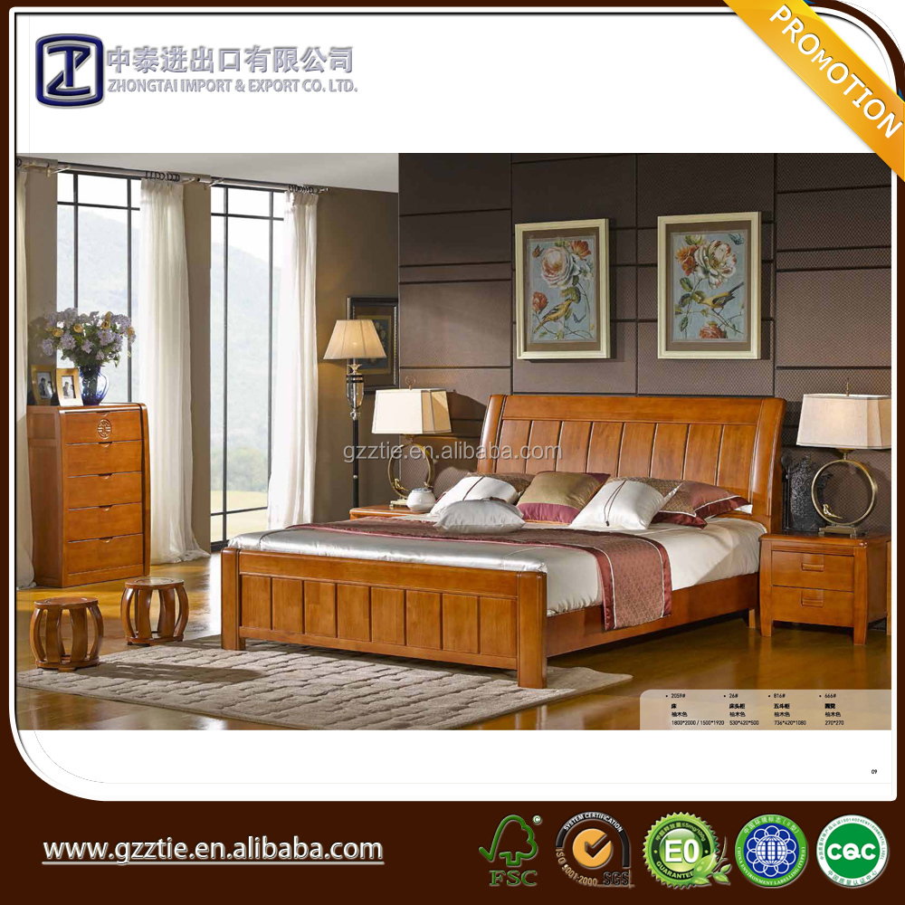 factory prices bed design furniture wooden bed room furniture set 2015
