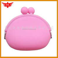 for girls 2016 lovely pink silicone coin purse