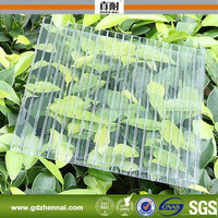 Plastic roofing material twin wall clear plastic heat resistance roofing sheet