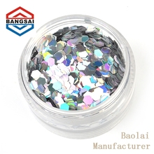 laser bright large silver 40mm round sequin for sewing