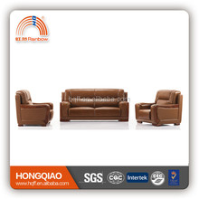 S-38 stainless steel leather furniture sofa 2015