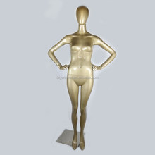 fashion mannequin sex doll real window display gold female mannequin