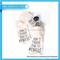 Custom logo design wine bottle bag cheap cotton single bottle wine gift bag