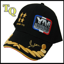 black long brill logo embroidered baseball cap with sandwich