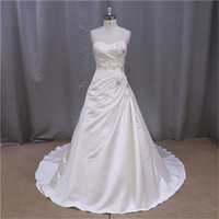Factory direct muslim duchess satin wedding gowns 2013