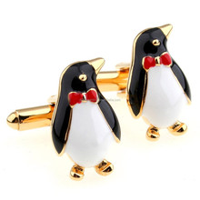 Cufflinks Retail Penguin Male Women General Casual Cufflinks Nail Sleeve