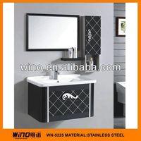 2014 most popular stainless steel luxury antique bathroom vanity