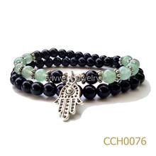 Yiwu CC Jewelry CCH0076 black agate stretch popular style wholesale diy charm bracelets