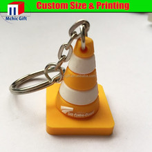 Factory price 3D effect plastic rubber customized logo pvc keychain