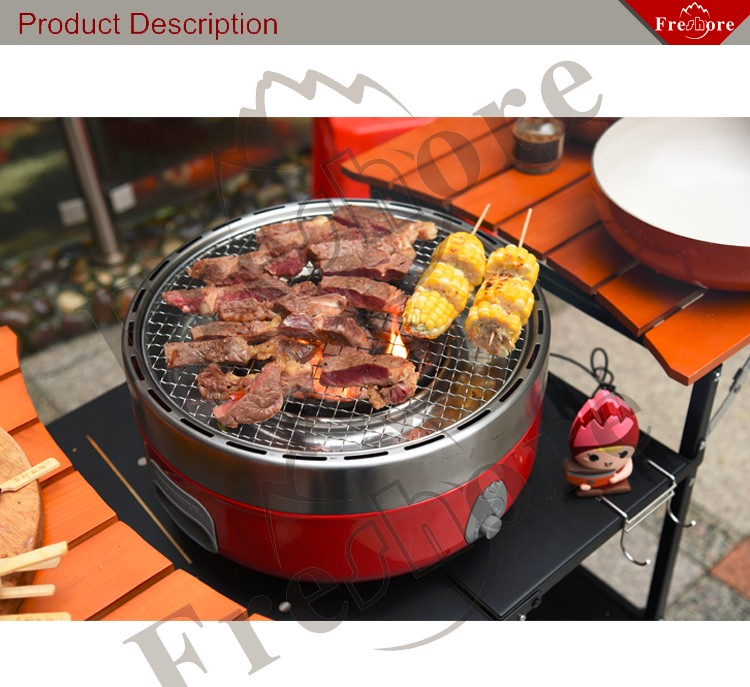 portable sans fum e de charbon de bois barbecue barbecue grill pour int rieur et ext rieur. Black Bedroom Furniture Sets. Home Design Ideas