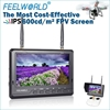 "5.8ghz wireless dual receiver 32ch battery inside IPS panel led lcd monitor fpv 7"" snow screen sunshade include dji phanton 3"