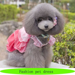 Fashion dog dress, beautiful small dog clothing, eco-friendly dog garments