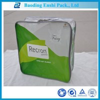 China supplier costomized plastic packaging curtain pvc package bag with zipper&handle