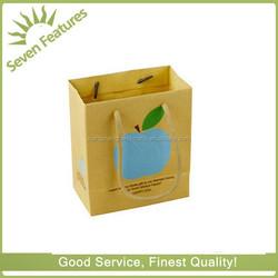 Beautiful new style yellow paper bag