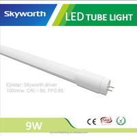 New PC+Aluminum Milky 3 Years Warranty Certified CE RoHs 9W 0.6M Tube8 LED Light Indoor Lighting Lamp