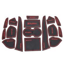 Fancy accessories car antiskid mat cup mat for Sylphy 2012-2014 16pcs/set