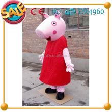 Hi CE animal lindo traje de la mascota, popular pig traje de la mascota, peppa pig mascota de disfraces